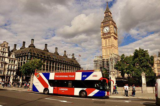 London, Big Ben, Bus, Double Decker Bus, Union Jack