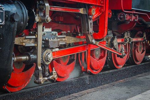 Wheels, Locomotive, Steam Locomotive, Machine