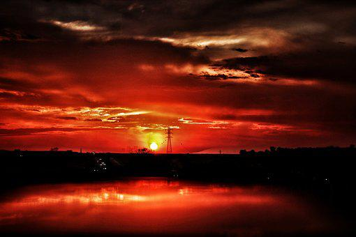 Landscape, Sunset, Afternoon, Sol, Dramatic