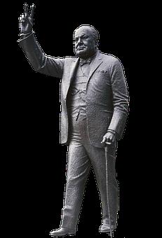 Churchill, Winston Churchill, Figure, Sculpture, Art