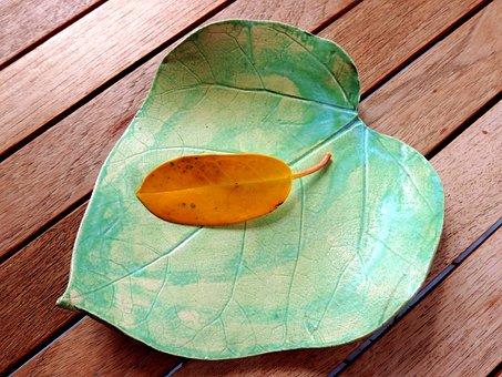 Leaf, Ceramic, Autumn, Decoration, Still Life