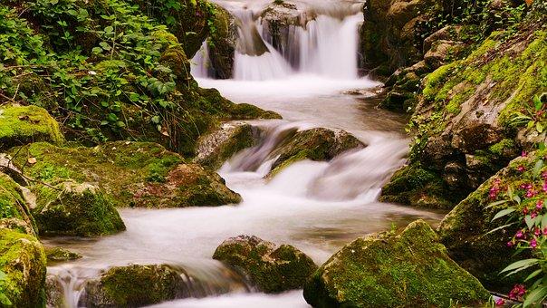 Hallein, Bach, Waterfall