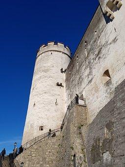 Hohensalzburg, Castle, City Walls, Fortress, Sky