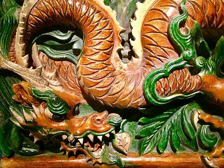 Dragon, China, Ceramic, Chinese, Asia, Traditional