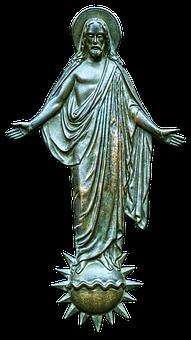 Jesus Figure, Christ, Plaque, Metal Figure, Religion