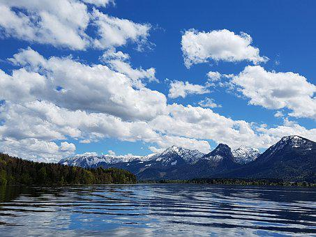 Sky, Landscape, Cloud, River, Times, Pleasure Boat