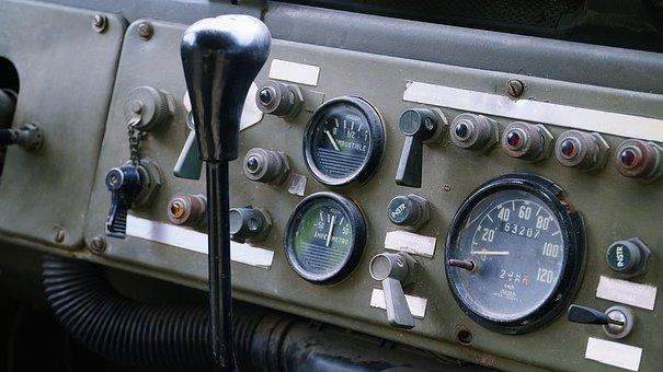 Cockpit, Clocks, Jack, Indicators, Controls, Old Auto