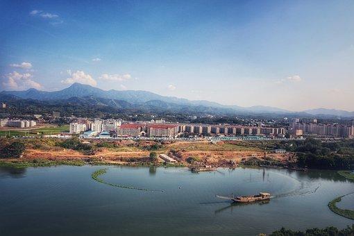 China, In Jiangxi Province, Ganzhou, Mountain