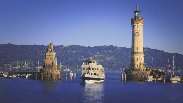 Harbour Entrance, Lindau, Lake Constance, Shipping