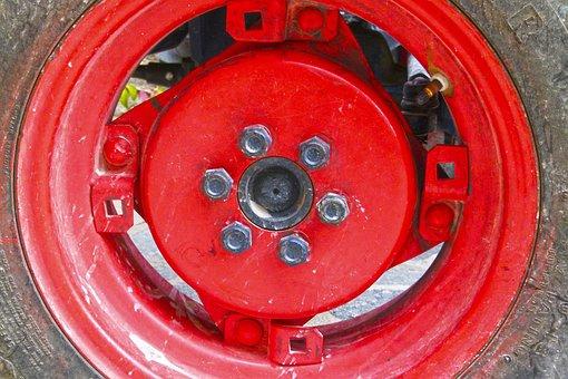Wheel, Rim, Nuts, Tractor