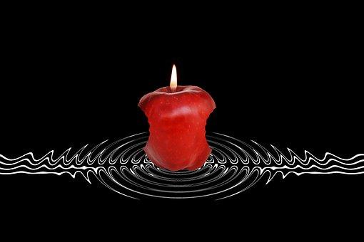 Flame, Candle, Original Sin, Sin, Apple, Adam, Eva