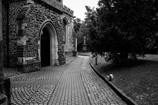 Church, Path, Old, Building, Architecture, Medieval