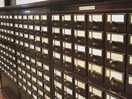 Library, Card Catalog, Books, Research, Historical