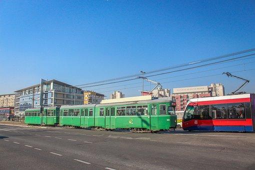 Tramway, Street, Transportation, Europe, Rail, Train
