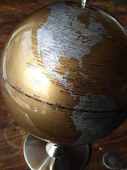 Globe, Us, America, Earth, World, Map, Planet