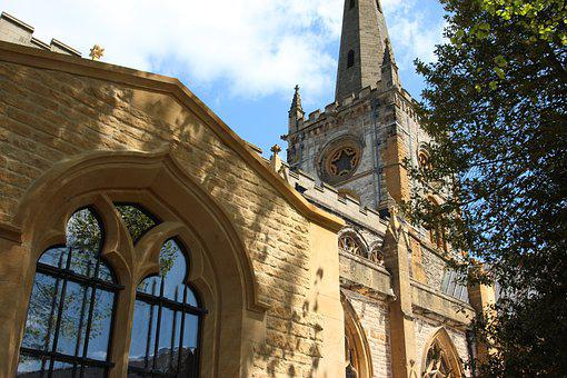 Church, England, Stratford, Architecture, English, Old