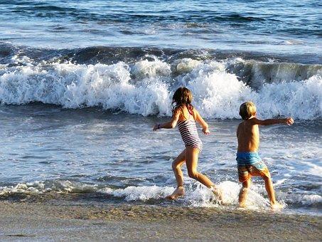 Beach, Play, Kids, Summer, Child, Childhood, Water