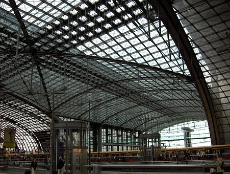 Berlin, Berlin Central Station, Roof Construction