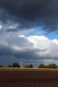 Pinwheel, Windräder, Energy, Wind Power, Blue, Sky