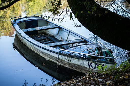 Boot, Kahn, Rowing Boat, Old, Ship, Lake, Ailing, Pond