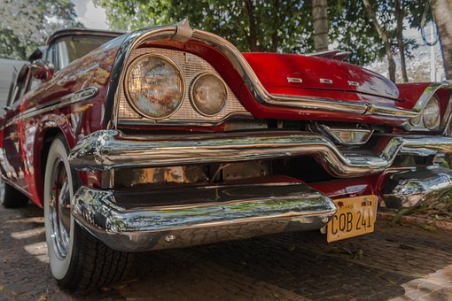 Old Car, Red, Old Vehicle, Classic Cars, Antique, Car