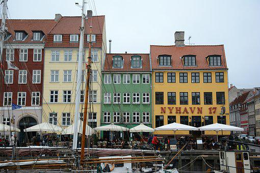 Copenhagen, Boat, Scandinavia, Architecture, Danish