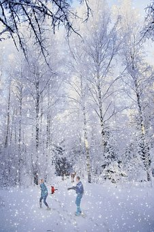 Family, Winter, Fun, Child, People, Snow, Mother