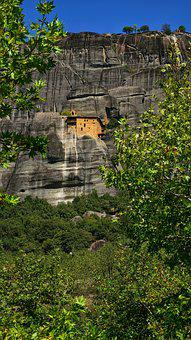 Meteora, Greece, Monastery, Greek, Rock