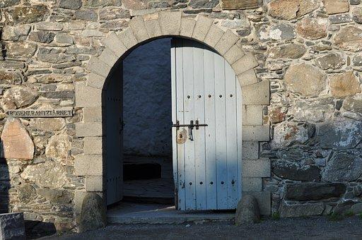Door, Gray, Grey, Outside, Stone, Entrance, Entry