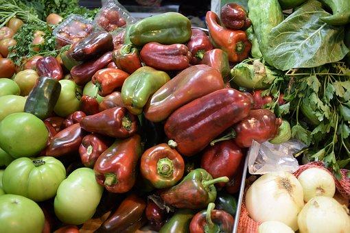 Vegetables, Aji, Pim, Chile, Peppers, Market, Colors
