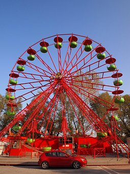 Carnival, Red, Carousel, Fun, Ride, Park, Amusement
