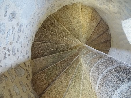 Staircase, Pierre, Market, Medieval, Castle, Tower