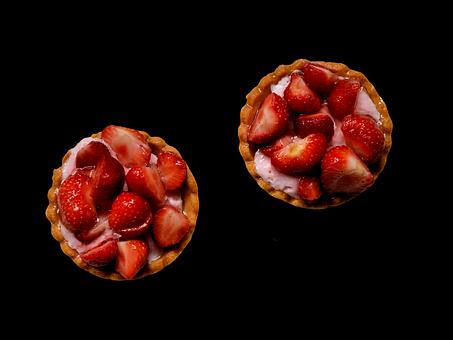 Cake, Strawberry, Sweetness, Desert, Snack, Fruit