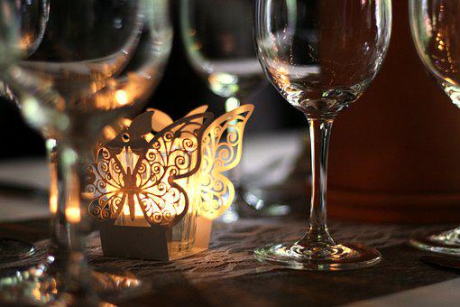 Table, Decoration, Table Decorations, Tealight, Light