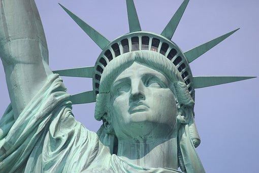 Statue Of Liberty, Nyc, New York, America, Usa