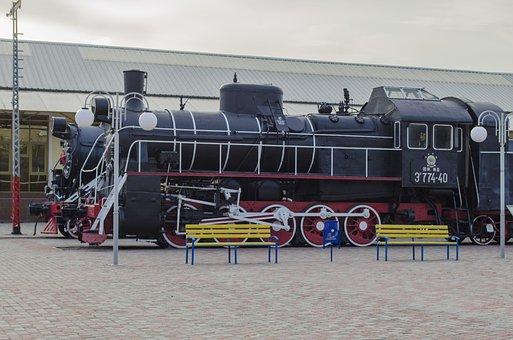 Steam Locomotive, Vintage, Boiler, Exhibit, Museum