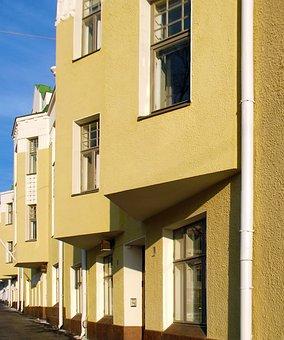 Building, Residential House, Art Nouveau, Light, Yellow