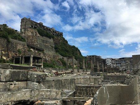 Battleship Island, Hashima, Nagasaki, Abandoned