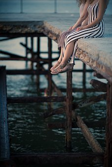 Bridge, Legs, Female, People, Woman, Young, Girl