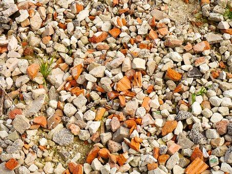 Building Rubble, Debris, Stones, Demolition, Crash
