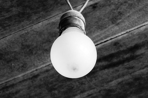 Electricity, Bulb, Lamp, Notion, Dark Background, Old