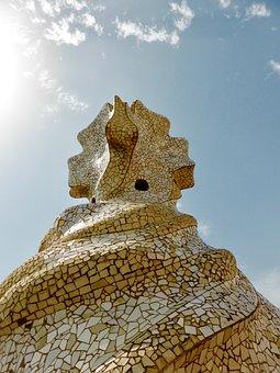 Gaudí, Barcelona, Mosaic, Architecture, Spain