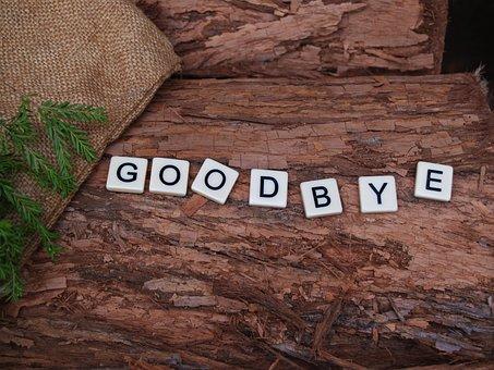 Goodbye, Farewell, End, Rough, Wood, Firewood, Bark