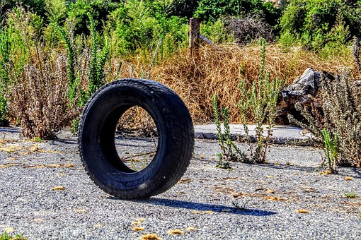 Tire, Rough, Plants, Texture, Dirty, Wheel, Rubber