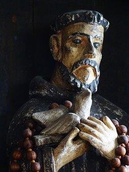 San Francisco, Sculpture, Texture, Face, Old, Artist