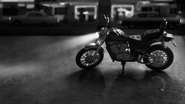 Motorcycle, Motorbike, Sin City, Toy, Photography