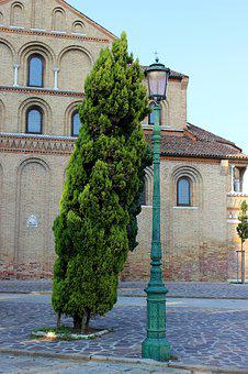 Lantern, Street Lamp, Tree Road, Venice