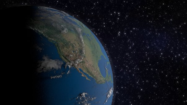 Earth, America, Space, Globe, Continents, 3d Model