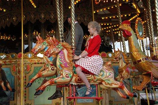 Fun Fair, Carousel, Amusement, Ride, Childhood, Kids