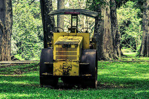 Road Roller, Roll, Old, Construction, Work, Industrial